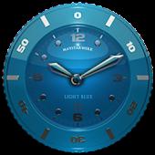 Clock Widget Lightblue Star