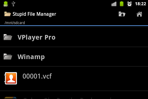 Stupid File Manager - screenshot