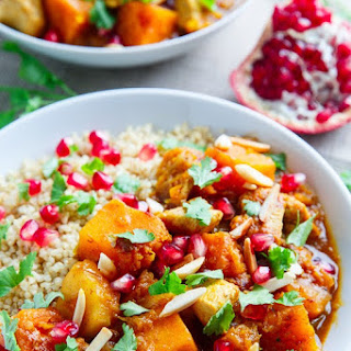 Pumpkin and Chicken Tagine.