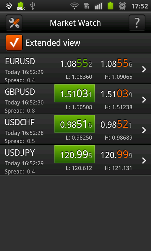 FXOpen TickTrader for Android - screenshot