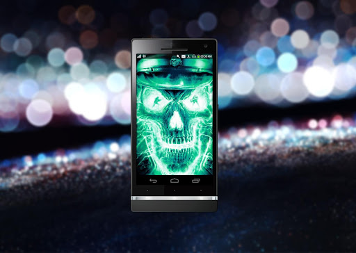 Neon Skull FBI Live Wallpaper