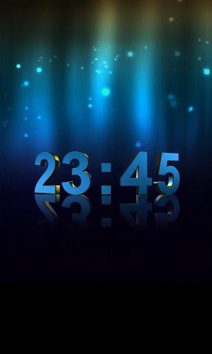 Живые обои 3D Digital Clock