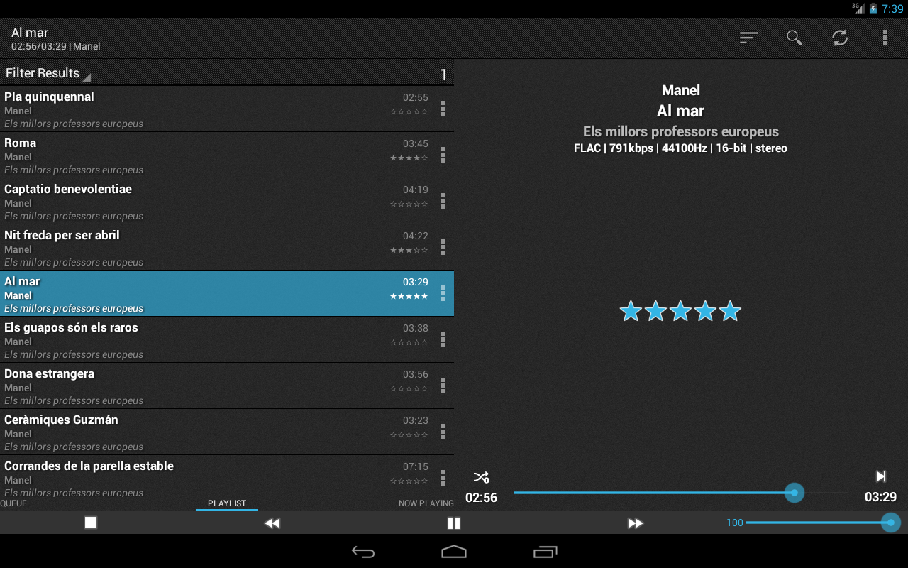 foobar2000 controller - screenshot