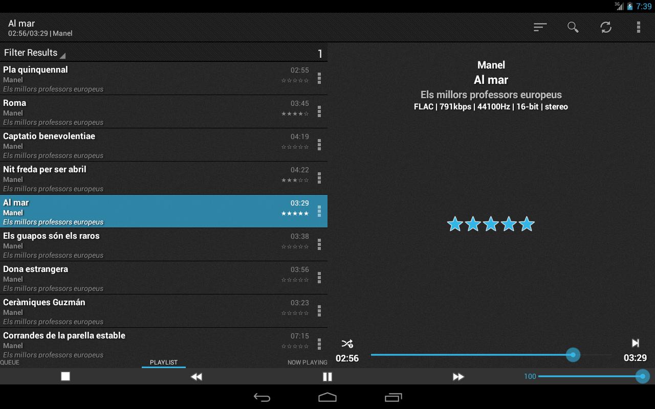 foobar2000 controller - screenshot