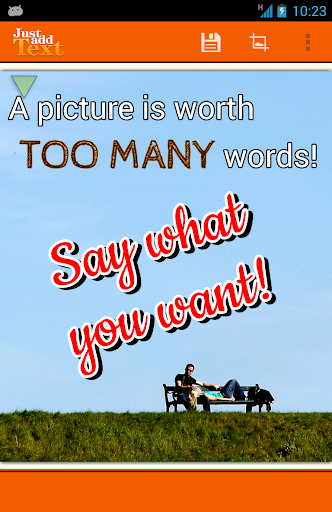Just Add Text to photos pics