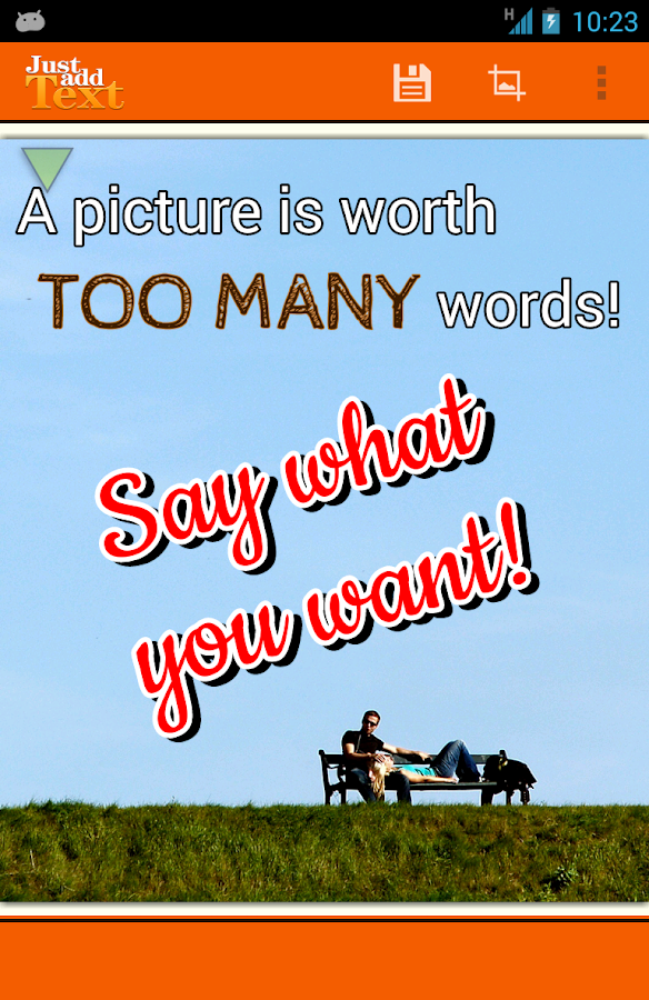 Just Add Text (to photos/pics)- screenshot