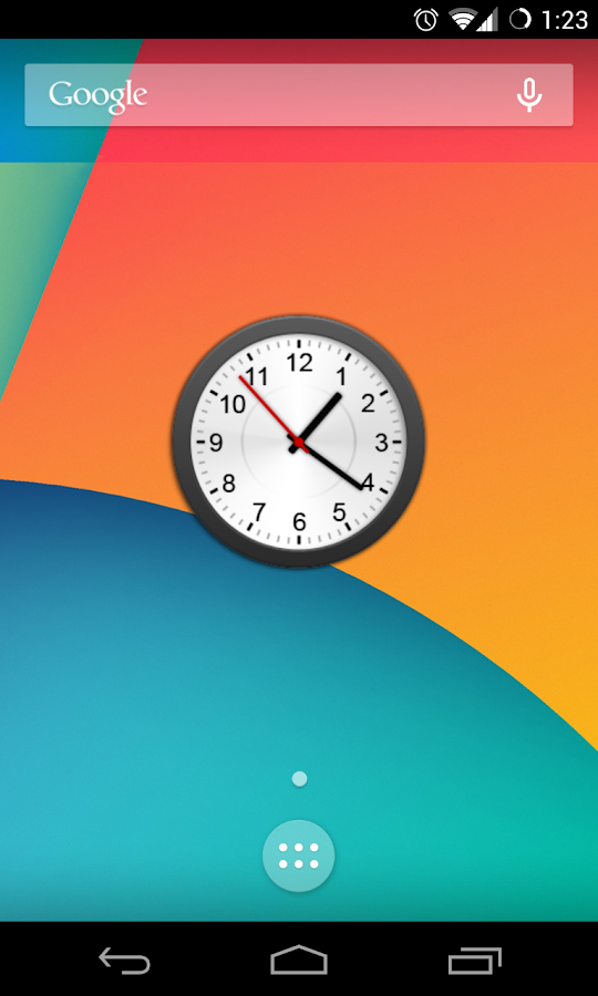 Animated Analog Clock Widget- screenshot