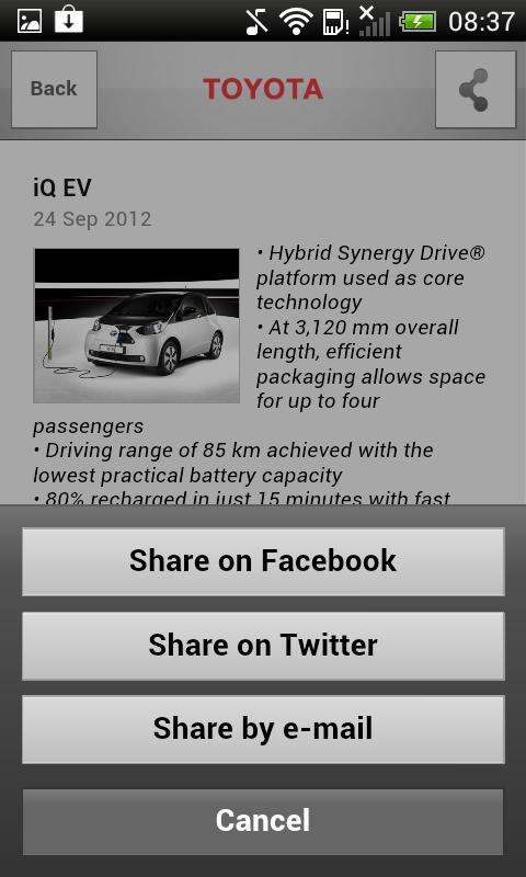 Toyota Europe Newsfeed - screenshot