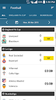 Screenshot of ScoreCenter LIVE