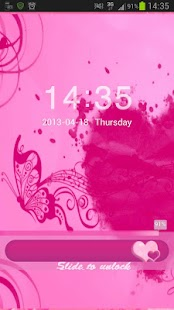 Locker Theme Pink Heart - screenshot thumbnail