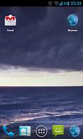 Screenshot of Stormy Ocean Live Wallpaper HD