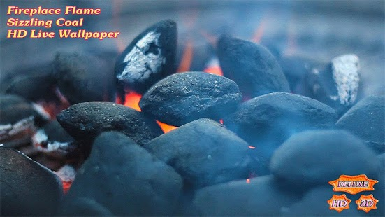 Fireplace Flame Sizzling Coal- screenshot thumbnail