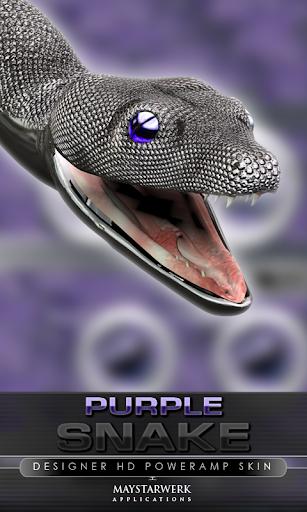 poweramp 皮膚紫のヘビ