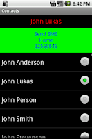 Screenshot of Contacts