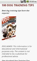 Screenshot of 100 Dog Training Tips