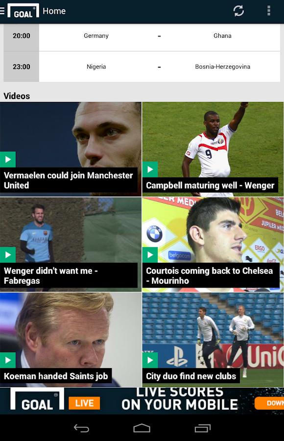 Goal.com - screenshot