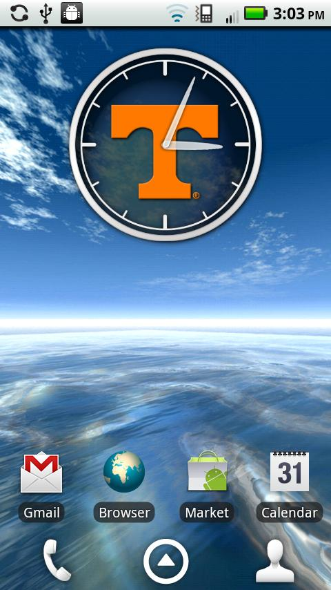 Tennessee Vols Clock Widget - screenshot