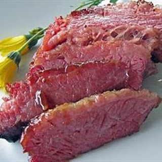 Mustard Glazed Corned Beef.