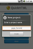Screenshot of QuickHTML