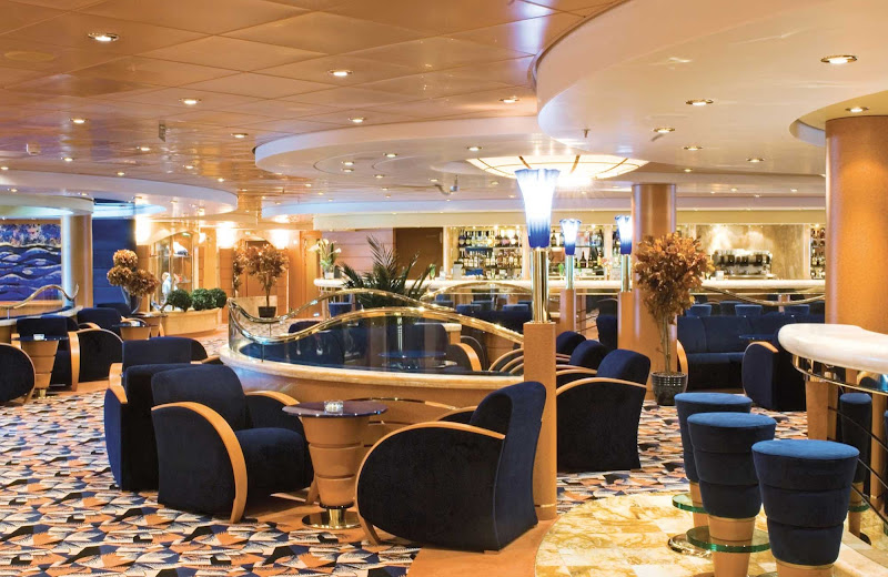 The MSC Musica's upscale Blue Velvet Bar offers espresso and espresso martinis, along with sweets and snacks.