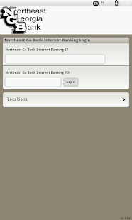 Northeast Georgia Bank Mobile - screenshot thumbnail
