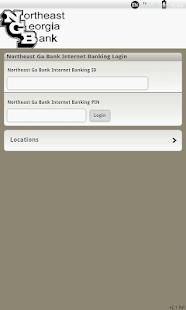 Northeast Georgia Bank Mobile - screenshot thumbnail