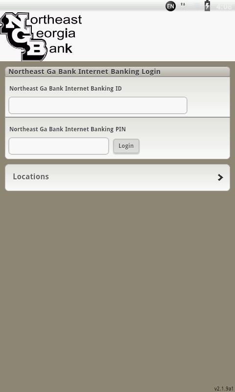 Northeast Georgia Bank Mobile - screenshot