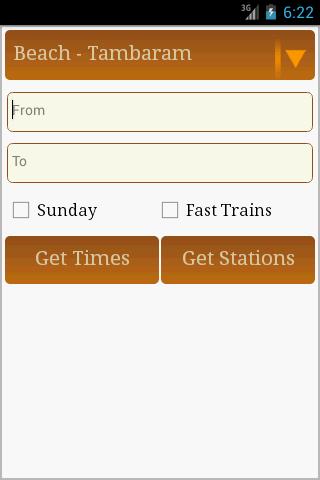 Chennai Train Timings MRTS