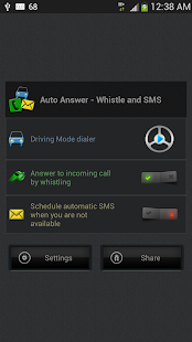 Auto Answer - Whistle & SMS- screenshot thumbnail