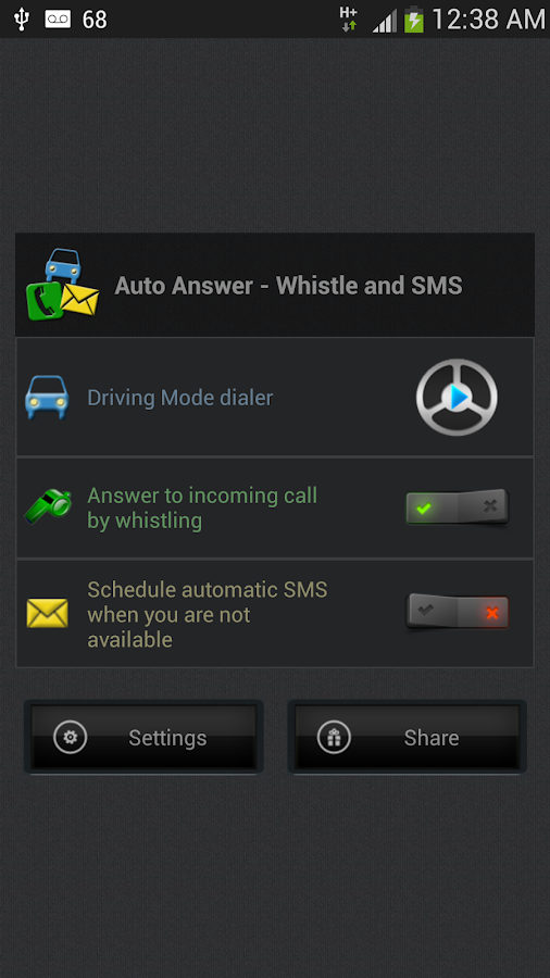 Auto Answer - Whistle & SMS- screenshot