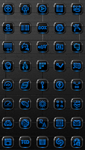 Next Launcher Theme Neon Blue v2.40