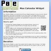 Max Calendar Widget