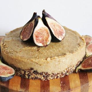Raw Vegan Lemon and Fig Cheesecake.