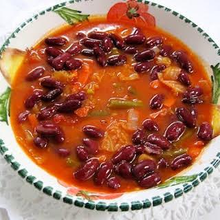 Curry Garden Vegetable Soup.