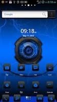 Screenshot of ADW Theme DigitalSoul Blue