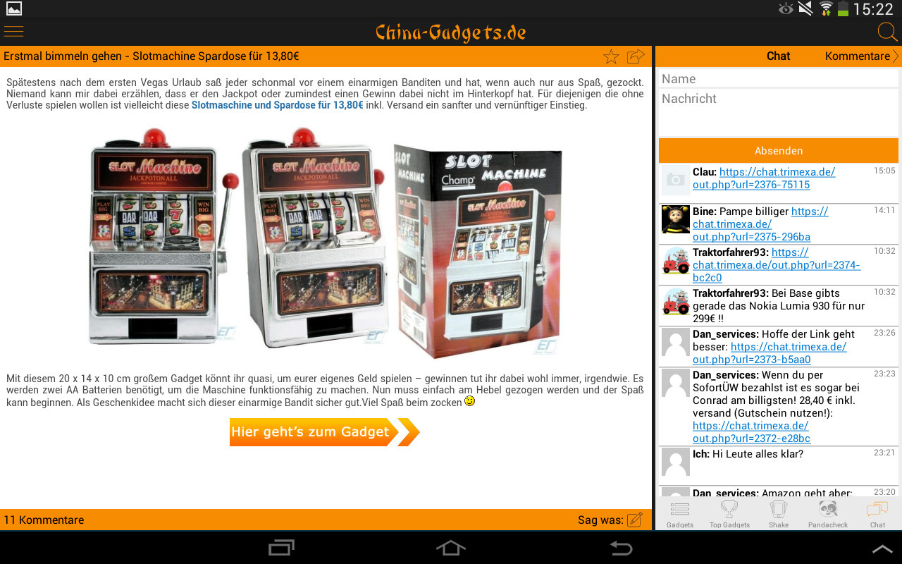 China Gadgets - Die Gadget App - screenshot