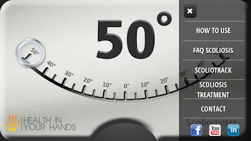 Screenshot of Scoliometer HD