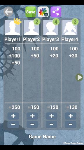 Tabletop Game Scorer