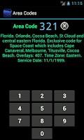 Screenshot of Area Codes