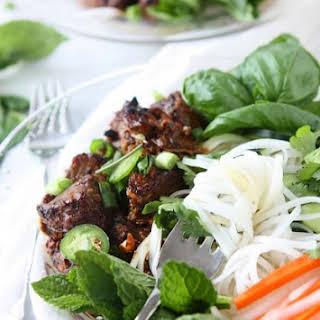 Vietnamese Sticky Pork Noodles (Bún Thịt Nướng).