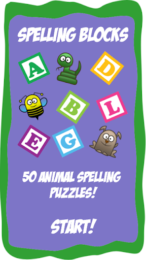Kids Animal Spelling Blocks
