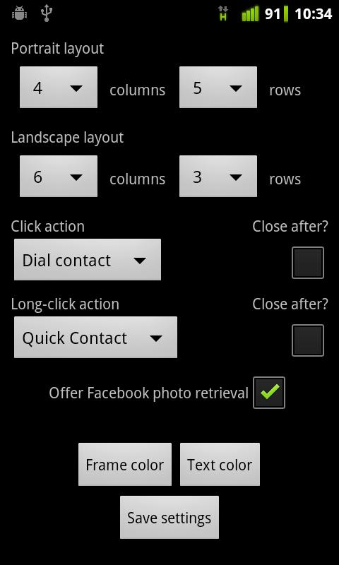 Contacts Grid - screenshot