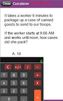 Screenshot of PAPA Math Practice Test