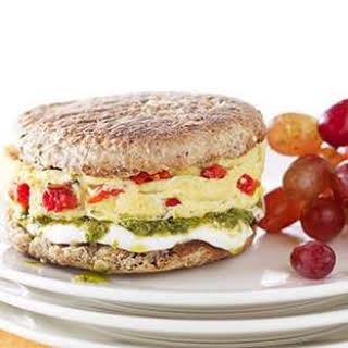 Pesto, Mozzarella & Egg Breakfast Sandwich.