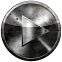 Poweramp skin GRUNGE preto & w icon