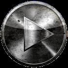 Poweramp skin GRUNGE black & w icon