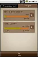 Screenshot of Money Notes
