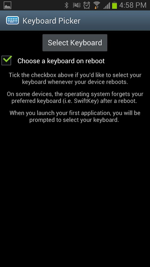 Keyboard Picker - screenshot