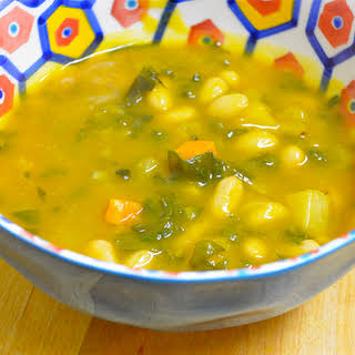 Pumpkin White Bean Soup.