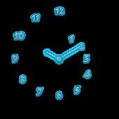 Analog Clock Neon Spiral Theme